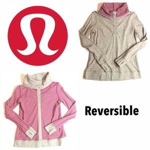 Lululemon Reversible Pink Gray Sweatshirt Medium